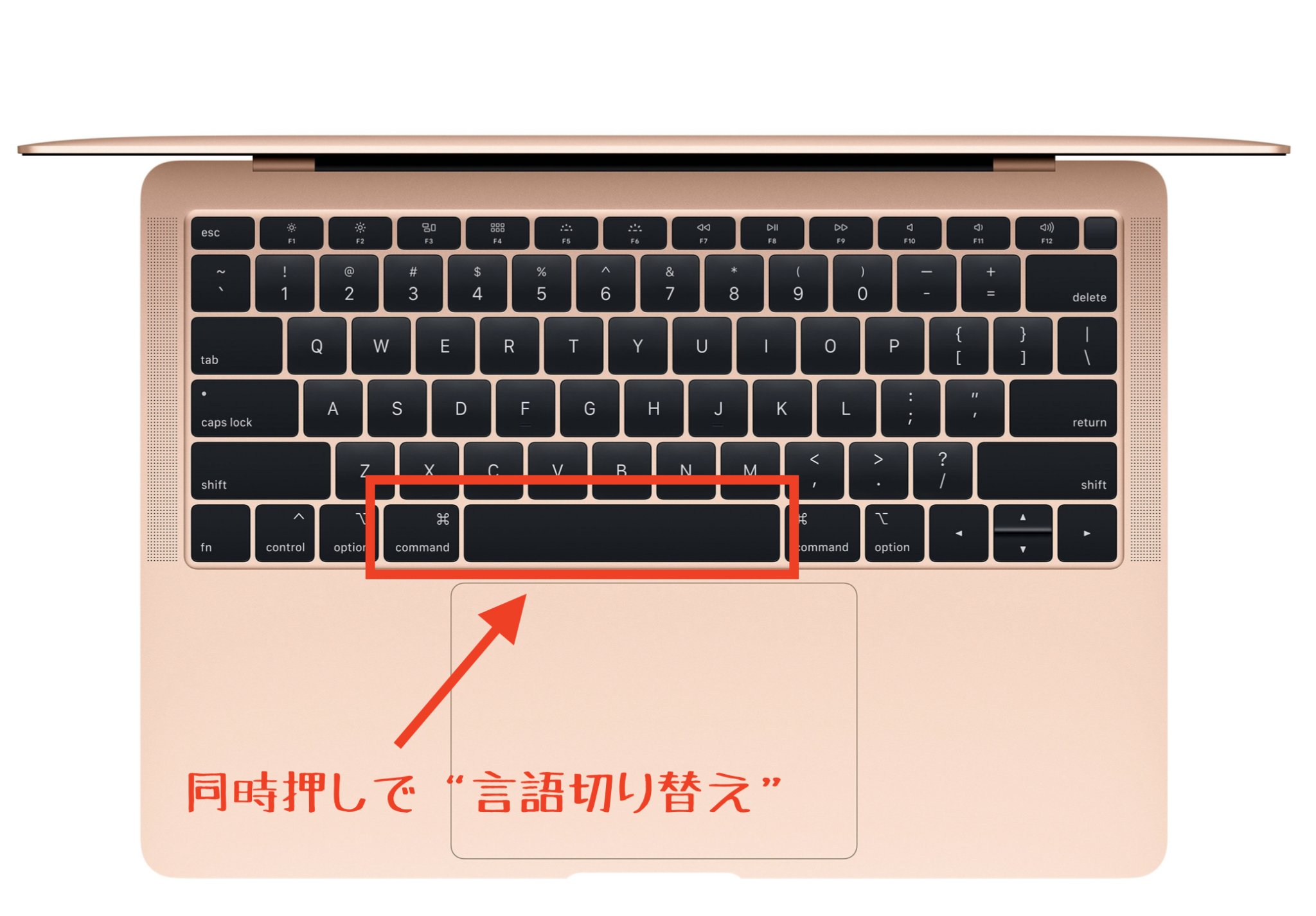 MacBookのCommand+Space