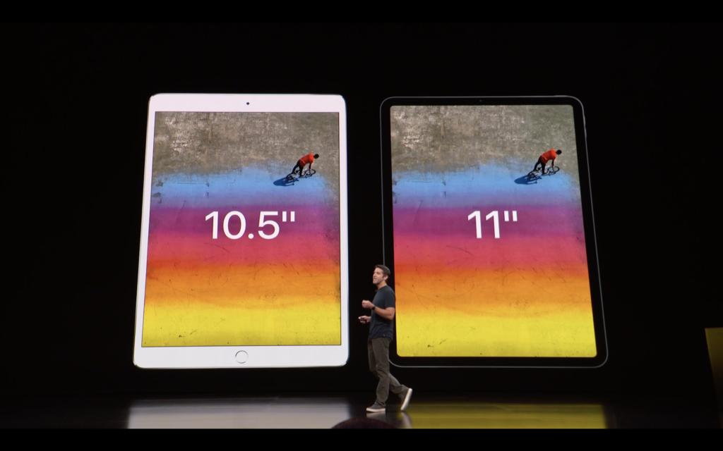 第3世代iPad Pro 11インチ旧型 画面 比較