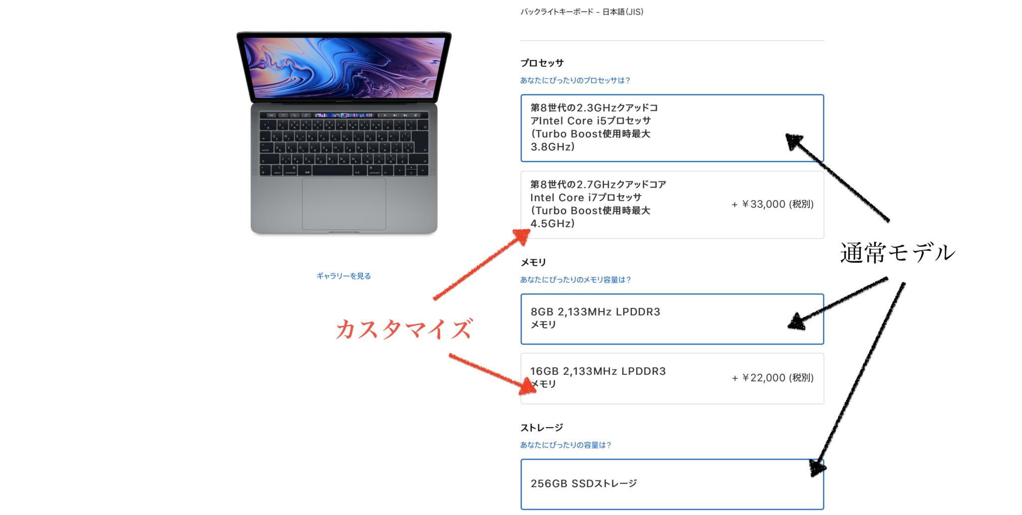 MacBookはカスタマイズ注文できる